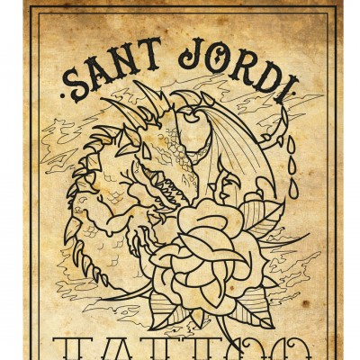 Día de Flash tattoo . Temática Sant Jordi.